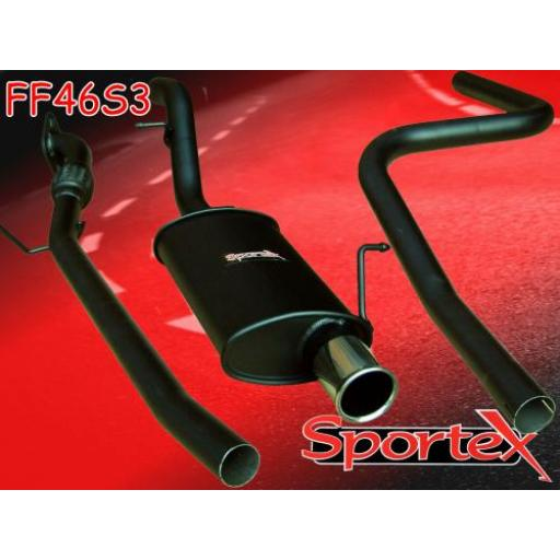 Sportex Ford Fiesta performance exhaust system 2002-2008 S3