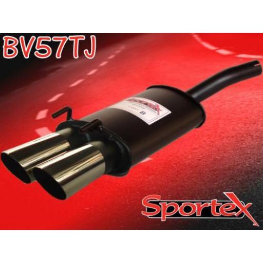 Sportex Vauxhall Corsa B exhaust back box 1.2i 1.4i 1.6i 93-00 TJ