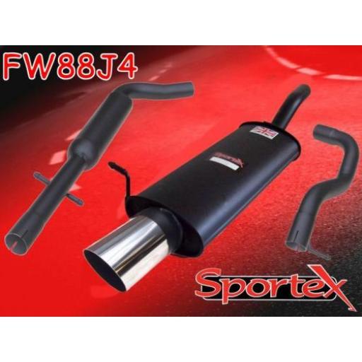 Sportex VW Golf exhaust system mk4 1997-2004 J4