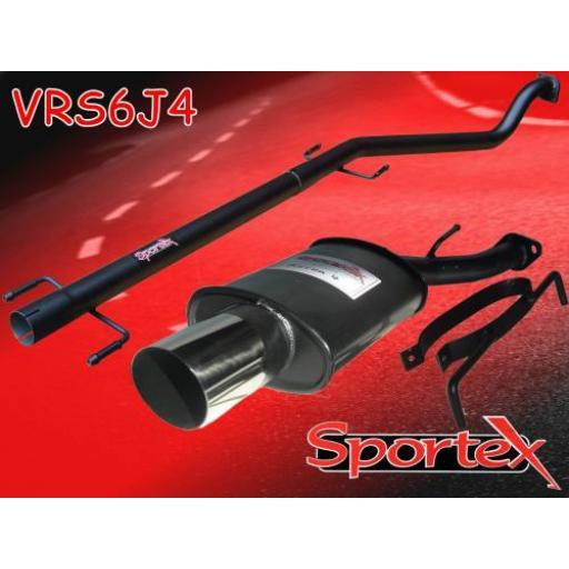 Sportex Vauxhall Astra mk4 performance exhaust system 1998-2003 J4