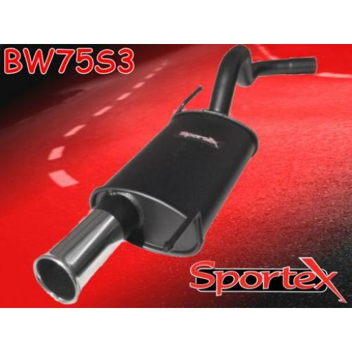 Sportex VW Polo exhaust back box 8v 16v 1994-2000 S3