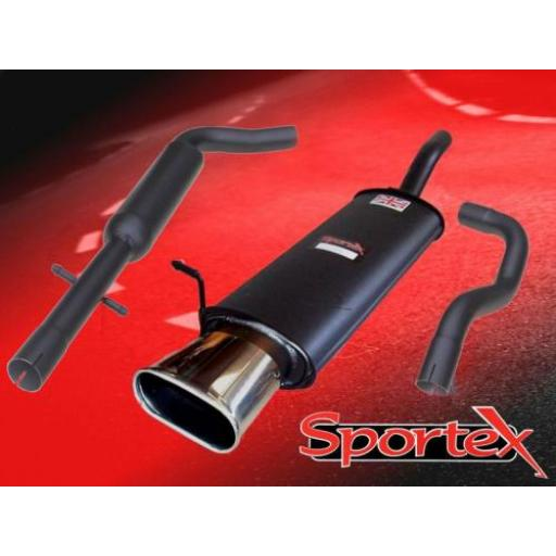 Sportex Seat Leon 1.8T performance exhaust system 2000-2005 BX