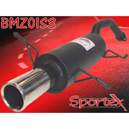 Sportex Mazda MX3 exhaust back box 1991-1999 S3