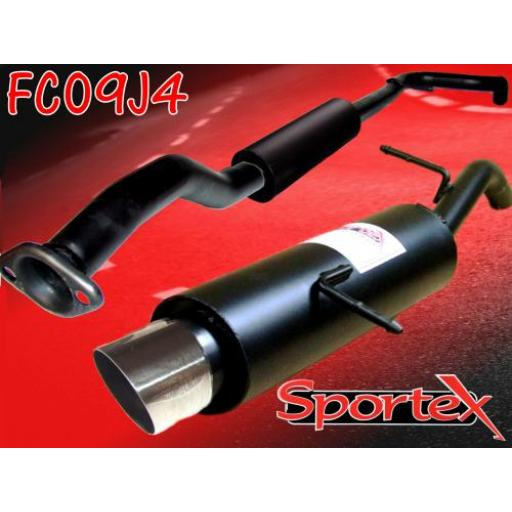 Sportex Citroen C2 performance exhaust system 1.1i 1.4i 1.6i 2003- J4