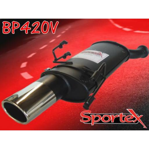 Sportex Peugeot 306 exhaust back box 1993-2002 OV
