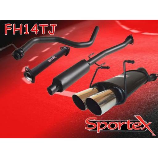 Sportex Honda Civic performance exhaust system 1991-2001 TJ