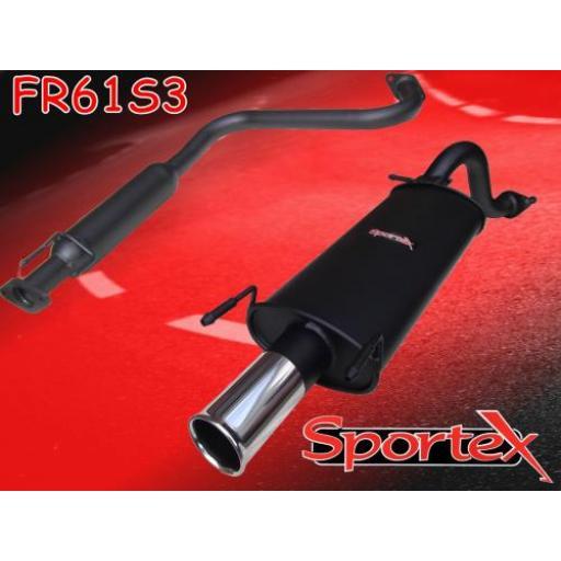 Sportex MG ZR exhaust system 2001-2005 S3