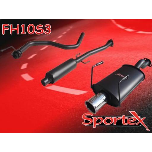 Sportex Honda Civic performance exhaust system 1991-2001 S3
