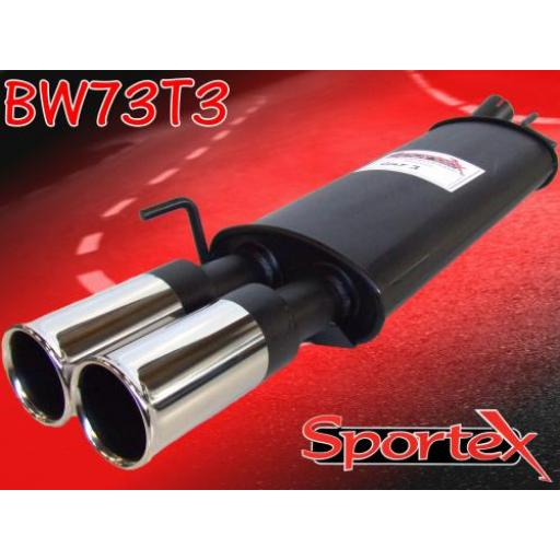 Sportex VW Golf exhaust back box 1.8i 2.0i 1.9TD 1992-1997 T3