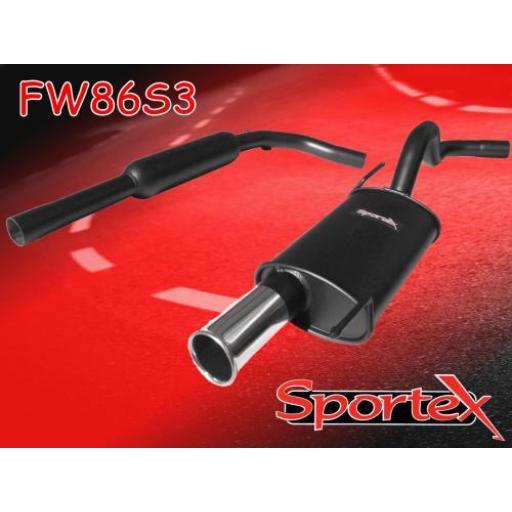 Sportex VW Polo exhaust system 8v 1994-10/2001 S3