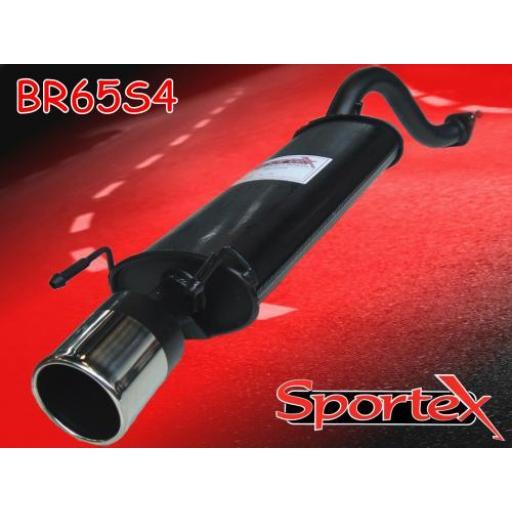 Sportex MG ZR exhaust back box 2001-2005 S4