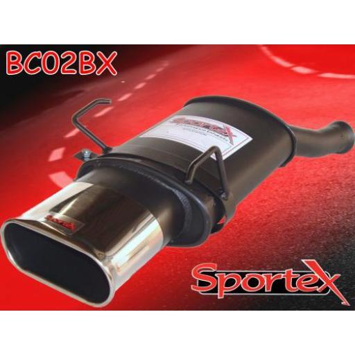 Sportex Citroen Saxo performance exhaust back box 1996-09/2000 BX