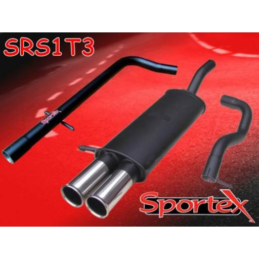 Sportex Seat Leon performance exhaust system 2000-2005 T3