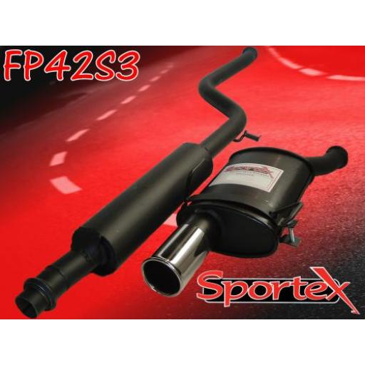 Sportex Peugeot 106 exhaust system 1.4i 1.6i 96-00 S3