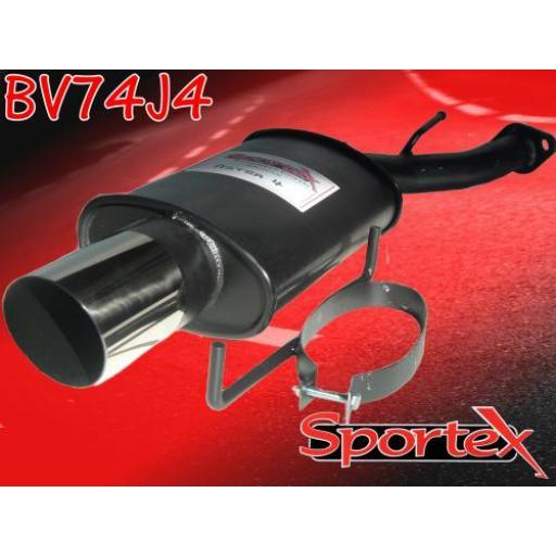 Sportex Vauxhall Astra mk4 exhaust back box 1998-2003 J4