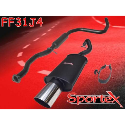 Sportex Ford Escort performance exhaust system 1.6 zetec 95-99 J4