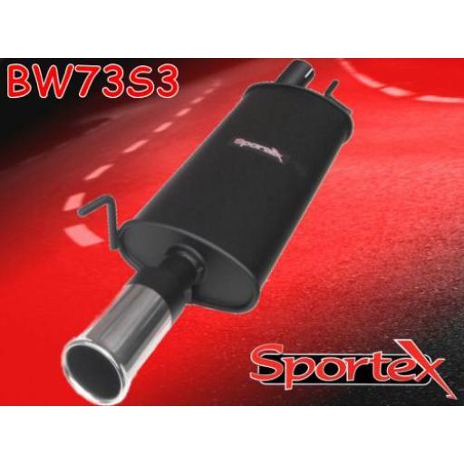 Sportex VW Golf exhaust back box 1.8i 2.0i 1.9TD 1992-1997 S3
