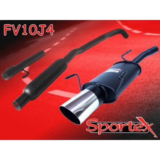 Sportex Vauxhall Corsa C performance exhaust system 2000-2006 J4
