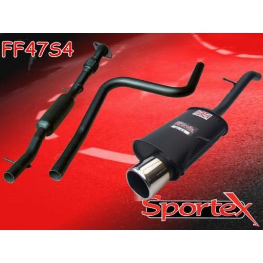 Sportex Ford Fiesta 1.6i performance exhaust system 2002-2008 S4