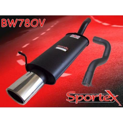Sportex VW Golf mk4 2.0i GTi APK, AQY exhaust back box 1999-2001 OV