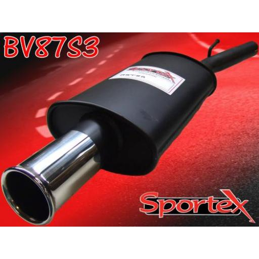 Sportex Vauxhall Astra mk4 exhaust back box 2003-2005 S3