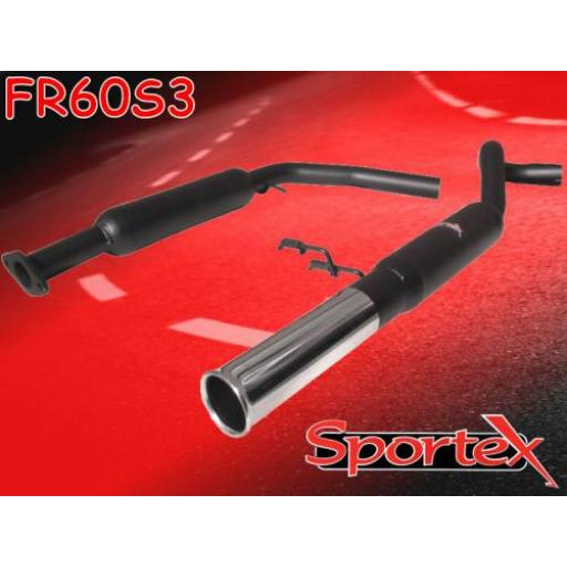 Sportex Rover Metro 1.4 performance exhaust system 1990-1995 S3