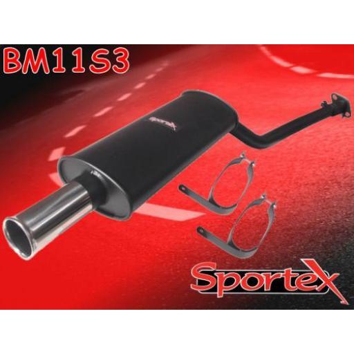 Sportex BMW 3 series performance exhaust system 316i 318i 91-98 S3