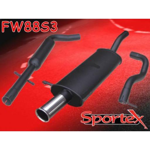 Sportex VW Golf exhaust system mk4 1997-2004 S3
