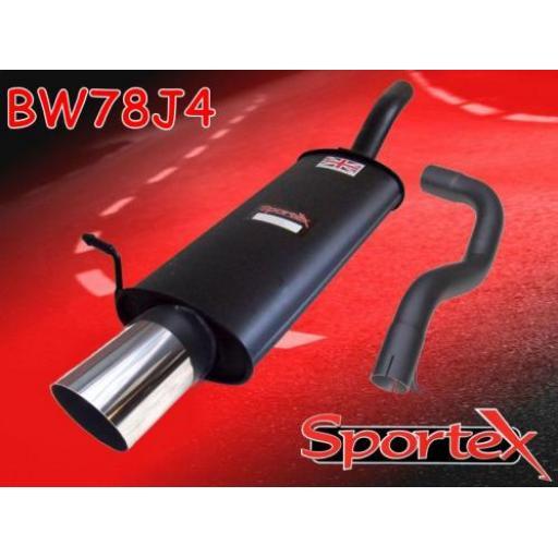 Sportex VW Golf mk4 1.8 GTi 125bhp exhaust back box 1997-1999 J4