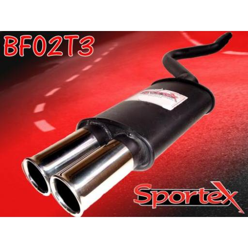Sportex Fiat Cinquecento exhaust back box 1100cc 1992-1998 T3