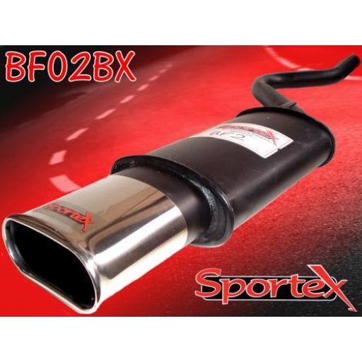 Sportex Fiat Cinquecento exhaust back box 1100cc 1992-1998 BX