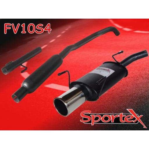 Sportex Vauxhall Corsa C performance exhaust system 2000-2006 S4