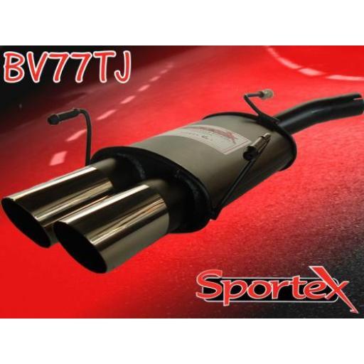 Sportex Vauxhall Corsa C exhaust back box 2000-2006 TJ