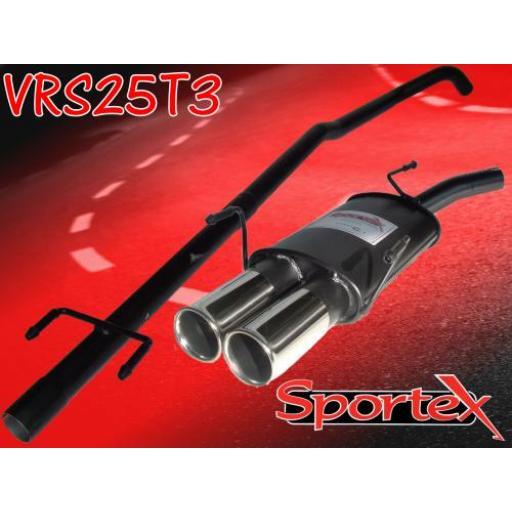Sportex Vauxhall Corsa C performance exhaust system 2000-2006 T3