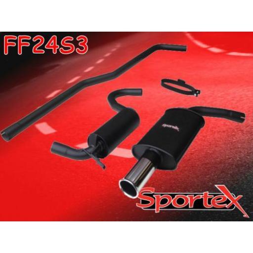 Sportex Ford Escort big bore exhaust system mk3/4 1990-1992 S3