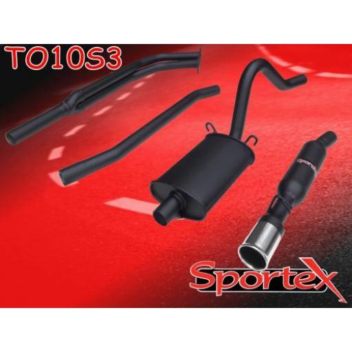 Sportex Opel Manta exhaust system 2.0i GTE hatch S3
