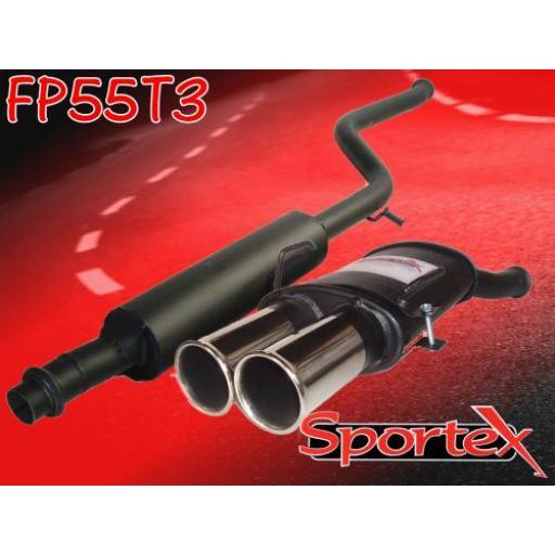 Sportex Peugeot 106 exhaust system series 1 1991-1996 T3
