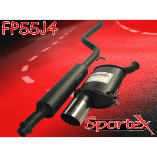 Sportex Peugeot 106 exhaust system series 1 1991-1996 J4