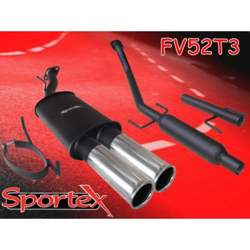 Sportex Vauxhall Astra mk4 performance exhaust system 1998-2004 T3