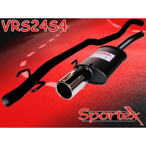 Sportex Vauxhall Corsa B performance exhaust system 1993-2000 S4