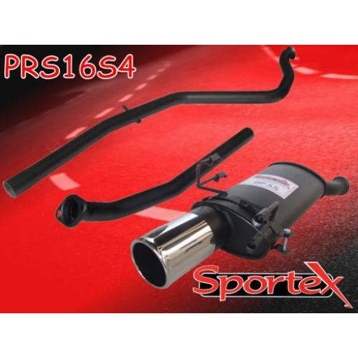 Sportex Peugeot 306 performance exhaust system 2000-2002 S4