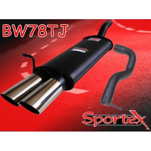 Sportex VW Golf mk4 2.0i GTi APK, AQY exhaust back box 1999-2001 TJ