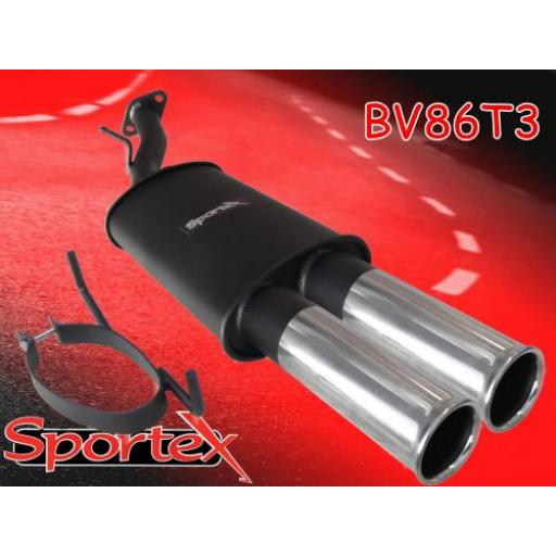 Sportex Vauxhall Astra mk4 coupe exhaust back box T3