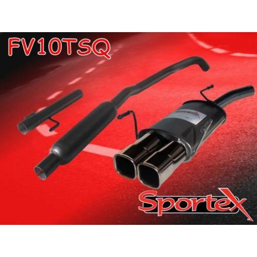 Sportex Vauxhall Corsa C performance exhaust system 2000-2006 TSQ