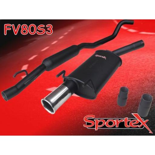 Sportex Vauxhall Corsa B performance exhaust system 1993-2000 S3