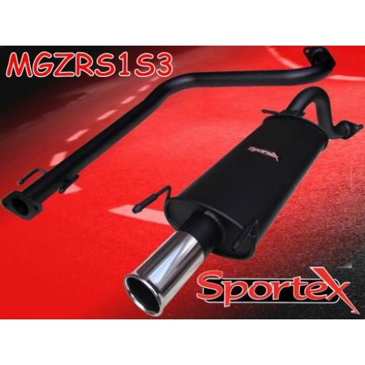Sportex MG ZR performance exhaust system 2001-2005- S3