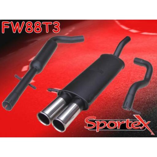 Sportex VW Golf exhaust system mk4 1997-2004 T3