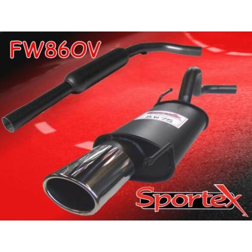 Sportex VW Polo exhaust system 8v 1994-10/2001 OV