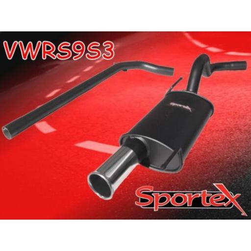 Sportex VW Polo performance exhaust system 1994-10/2001 S3