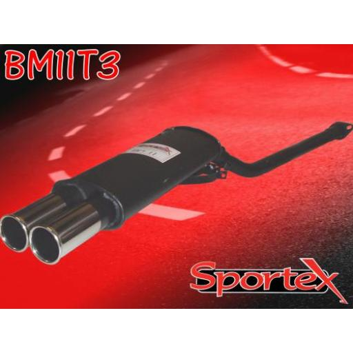 Sportex BMW 3 series performance exhaust system 316i 318i 91-98 T3
